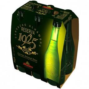 ALHAMBRA reserva 1925 cerveza rubia nacional pack 4 botellas 33 cl