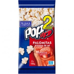 POP UP Palomitas al toque de sal pack 2 unidades bolsa 100 grs