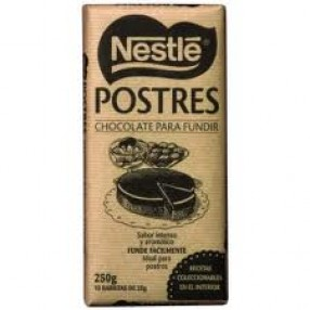 NESTLE POSTRES chocolate negro para fundir tableta 250 grs