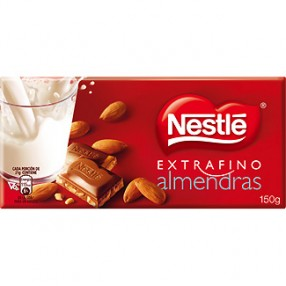 NESTLE chocolate con almendras tableta 150 grs