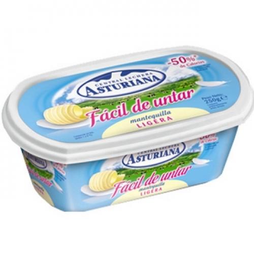 Asturiana mantequilla ligera facil de untar 250 grs for Cuchillo de untar mantequilla