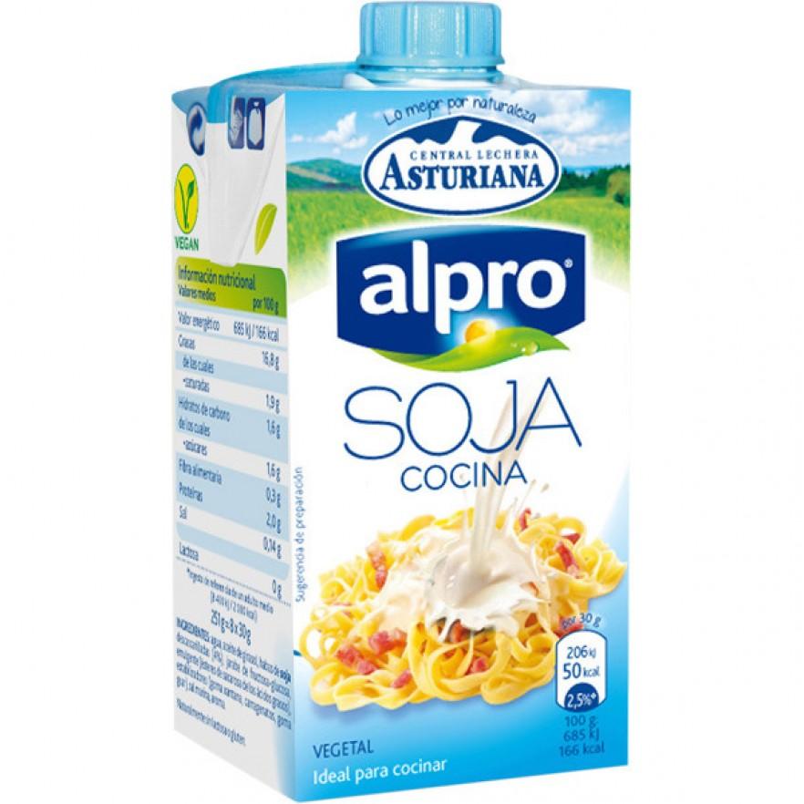 Asturiana alpro soja nata ligera de cocinar 100 vegetal - Film para cocinar ...