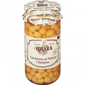 ROSARA garbanzo natural extra frasco 600 grs