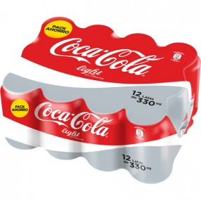 COCA COLA light lata 33 cl pack 12