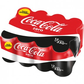 COCA COLA zero lata 33 cl pack 12