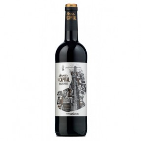 Vino tinto  D.O.Vinos de Madrid SANZ LA CAPITAL botella 75 cl