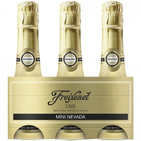 Cava semiseco mini carta nevada FREIXENET pack 3 x 20 cl