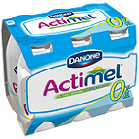 DANONE ACTIMEL 0% yogur liquido natural pack 6