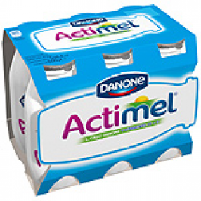 DANONE ACTIMEL yogur liquido natural pack 6