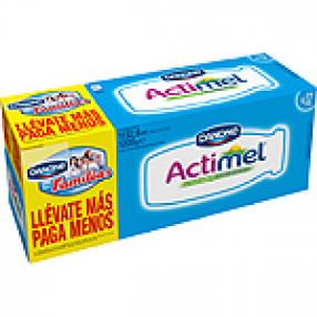 DANONE ACTIMEL yogur liquido natural pack 12