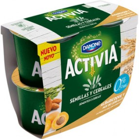 DANONE ACTIVIA SEMILLAS Y CEREALES yogur albaricoque y mix cereales pack 4