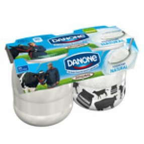 DANONE ORIGINAL yogur natural azucarado pack 2 unidades