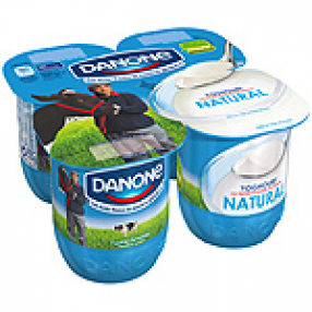 DANONE yogur natural pack 4 unidades