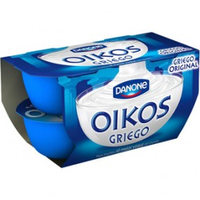 DANONE OIKOS yogur griego natural pack 4