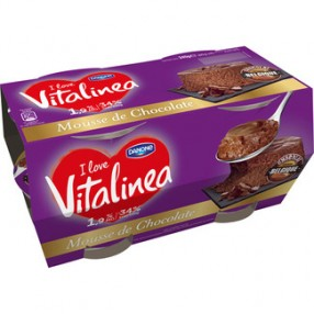 DANONE VITALINEA Mousse de chocolate pack 4