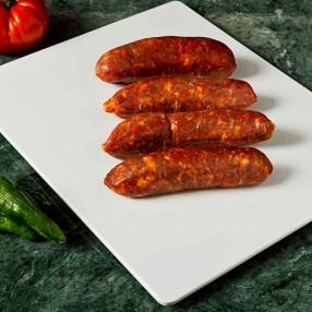 Chorizos frescos 4 unidades peso aproximado bandeja 300 grs