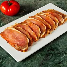 Lomo adobado de cerdo iberico en filetes peso aproximado bandeja 400 grs
