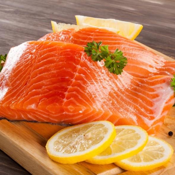 Salmon en filetes peso aproximado bandeja 500 grs