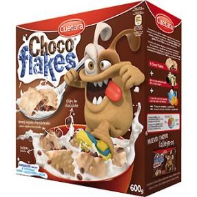 CUETARA  Choco flakes galletas rellenas de chocolate caja 600 grs