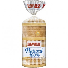 BIMBO pan de molde natural 100 % 460 grs