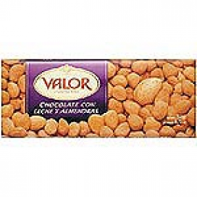 VALOR chocolate con leche y almendras tableta 250 grs