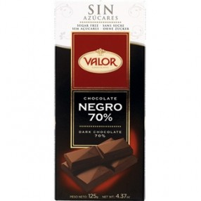 VALOR chocolate negro 70% sin azucar tableta 125 grs