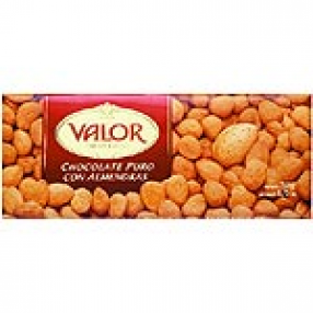 VALOR chocolate puro con almendras tableta 250 grs