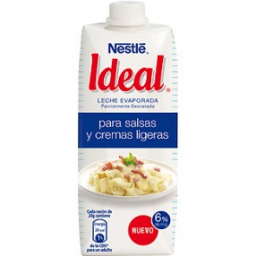 IDEAL leche evaporada brick 525 grs