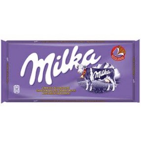 MILKA chocolate con leche tableta 125 grs