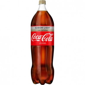 COCA COLA LIGHT SIN CAFEINA botella 2 L