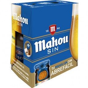 MAHOU SIN cerveza sin alcohol pack 6 botellas 25 cl