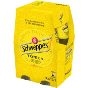 SCHWEPPES tonica pack 4 botella 25 cl
