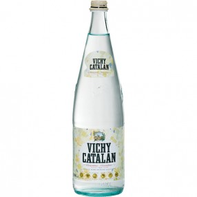 VICHY CATALAN agua mineral natural con gas botella 1 L