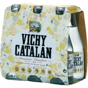VICHY CATALAN agua mineral natural con gas botellas 25 cl pack 6