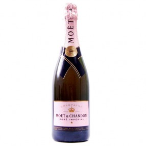 Champagne rose imperial MOET & CHANDON botella 75 cl