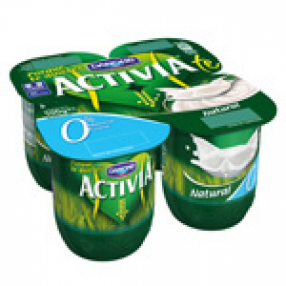 DANONE ACTIVIA yogur natural 0% pack 4