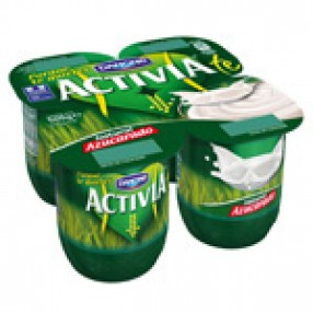 DANONE ACTIVIA yogur natural azucarado pack 4