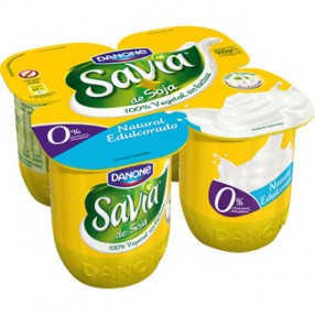 DANONE SAVIA yogur natural edulcorado pack 4