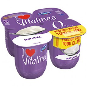 DANONE VITALINEA yogur natural pack 4