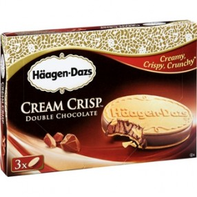 HAAGEN-DAZS cream crisp chocolate pack 3