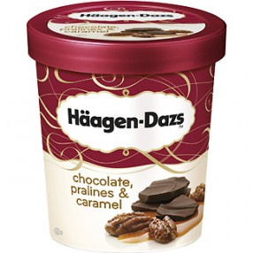 HAAGEN-DAZS chocolate,pralines & cream tarrina 500 ml