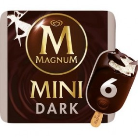 FRIGO MAGNUM mini dark chocolate estuche 6 unidades