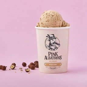 PINK ALBATROSS Helado 100% vegetal de avellana 450 ml