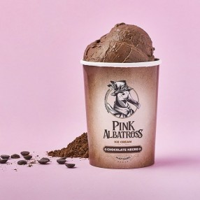 PINK ALBATROSS Helado 100% vegetal de chocolate negro 450 ml