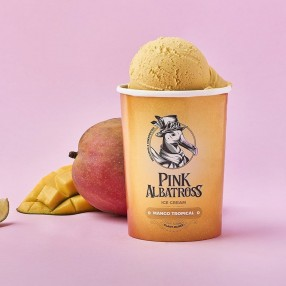 PINK ALBATROSS Helado 100% vegetal de mango tropical 450 ml