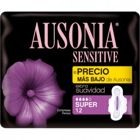 AUSONIA SENSITIVE compresa normal bolsa 14 unidades