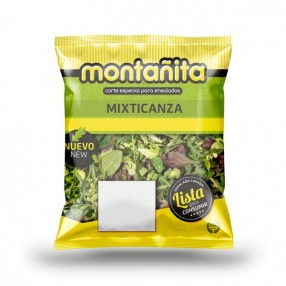 Ensalada Mixticanza peso aproximado bolsa 110 grs