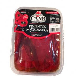 Pimientos Rojos asados peso aproximado bandeja 550 grs