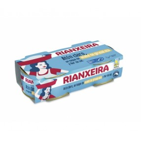 RIANXEIRA Atun claro en aceite girasol pack 2