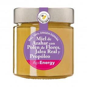 LA OBRERA DEL COLMENAR Miel de Azahar con polen, jalea real y propóleo tarro 300 grs